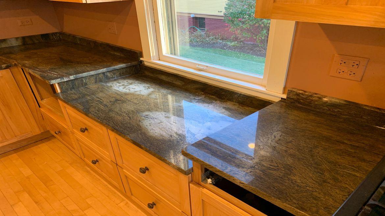 Sangri-La Quartzite Kitchen Chicago | Granite Countertops ...